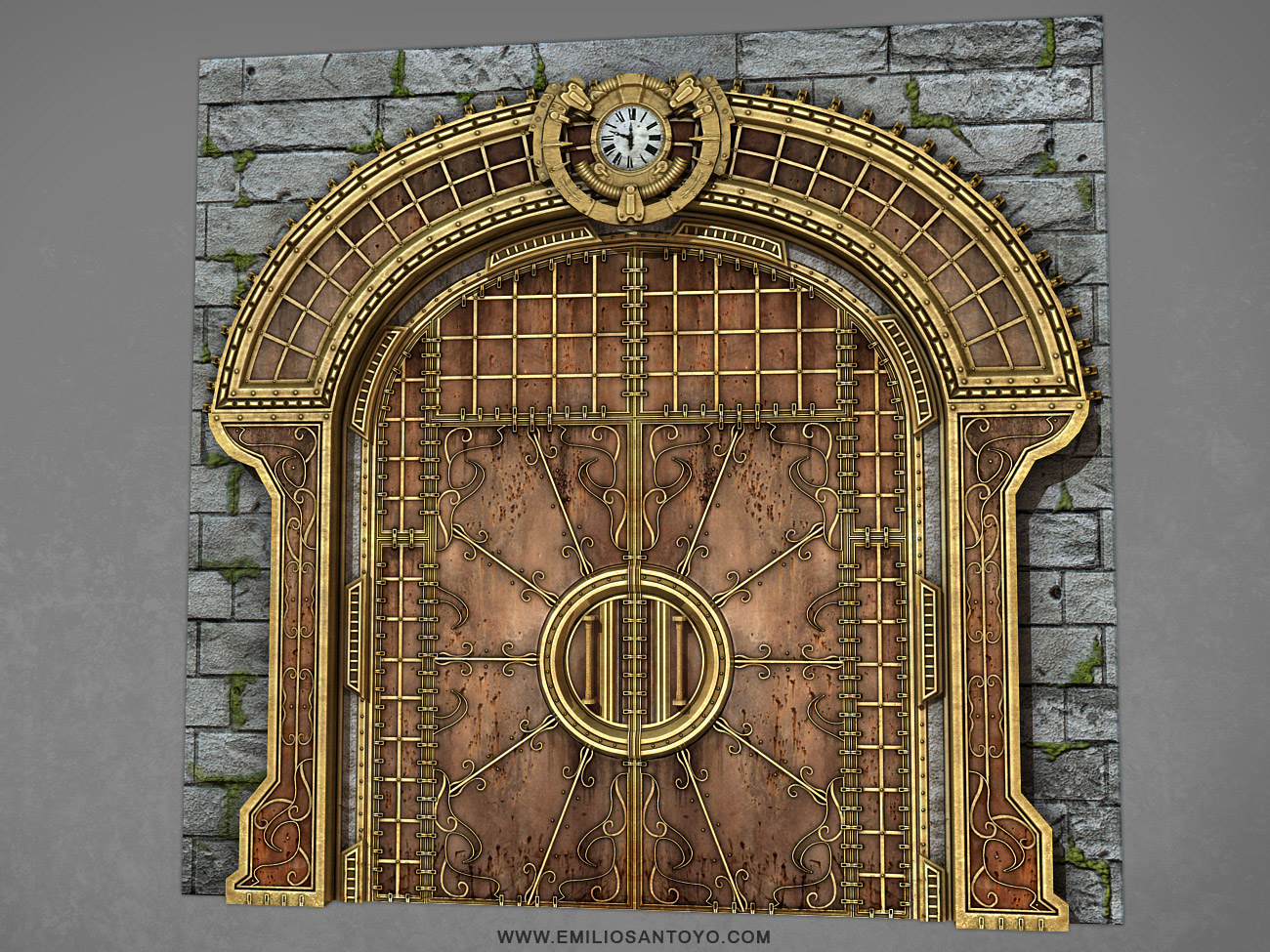 SteamPunk Door. Software used Maya PhotoShop and Unreal 3 Engine. & Props Gallery
